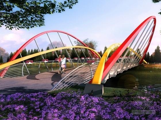 [江苏]滨湖森林公园车行桥景观设计方案