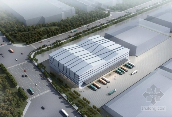 [福建]现代风格金属板外墙普通物流仓库建筑设计方案文本