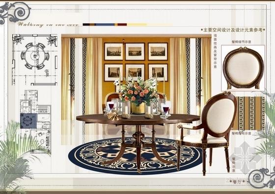 [成都]精品温暖英式风格三层别墅室内装修设计方案-[成都]温暖英式风格三层别墅室内装修设计方案餐厅