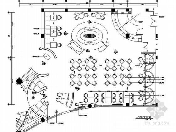 [江苏]浪漫元素弥漫的酒店西餐厅装修施工图(含效果图)