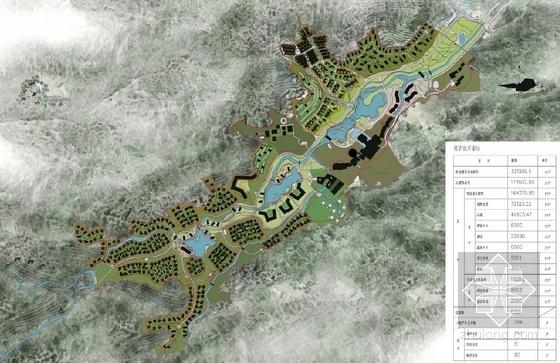 [江西]中式风格禅意温泉度假区规划设计方案文本-中式风格禅意温泉度假区总平面图