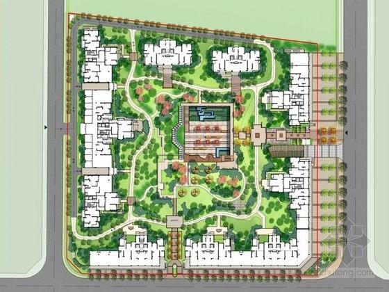[成都]现代中式园林居住区景观设计方案(著名研究院设计)