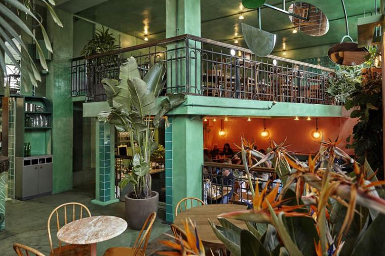 城市中的热带雨林阿姆斯特街角餐厅_10