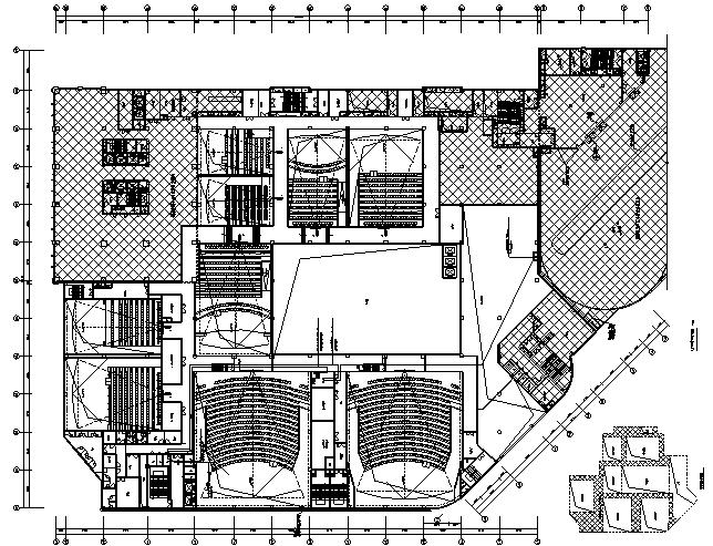吉林中央商务区B区(摩天活力城)影院电气施工图