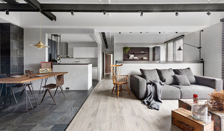 烘托生活的设计新竹36 坪复古现代住宅