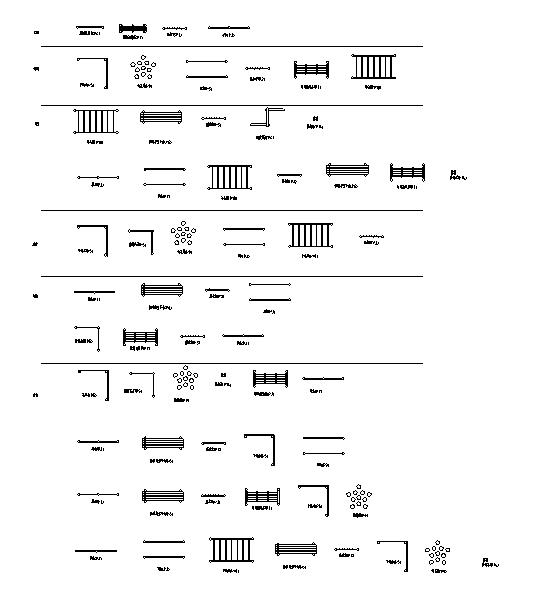 各种健身器材平面施工图