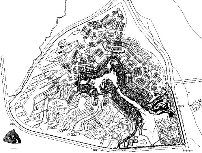 """[福建]""""溪流引趣""""居住区景观规划设计施工图全套"""