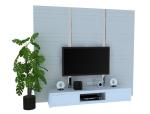 现代简单影视墙3D模型下载