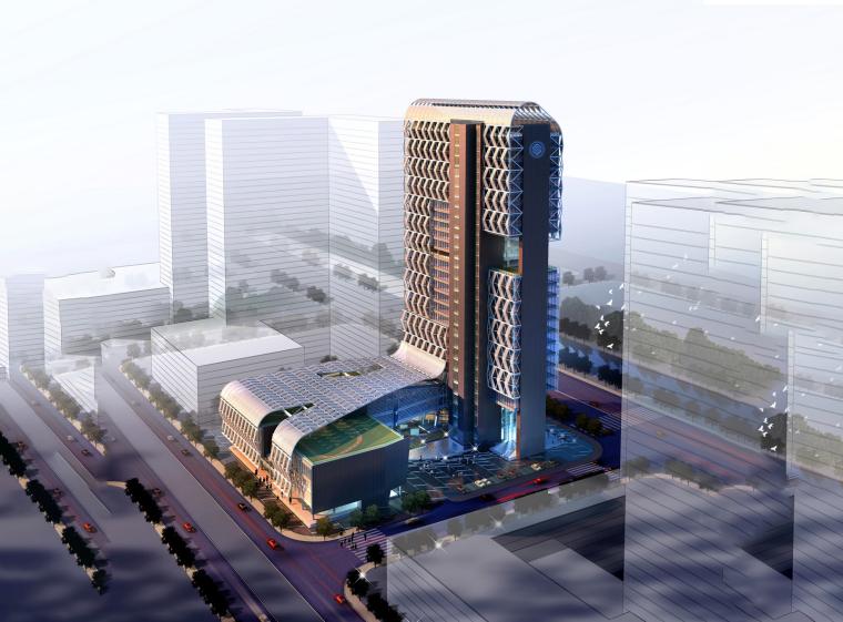 [南京]现代风格综合楼办公楼(CAD+SU+文本)