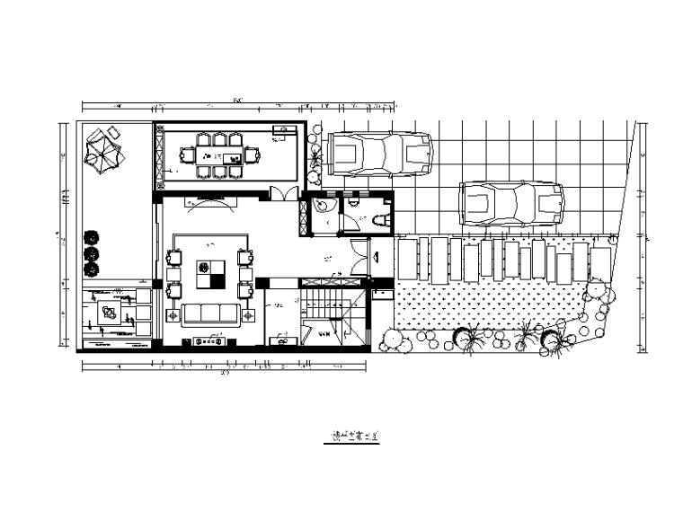 【福建】建欧现代风格别墅设计CAD施工图(含效果图)_1