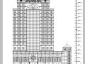 现代欧式高层塔楼式酒店建筑设计施工图CAD