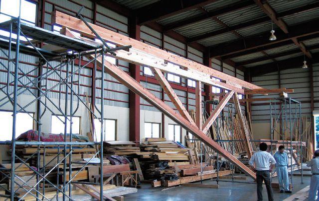 直径44m的半圆形和伞构造支撑起多雪地区的屋顶_12
