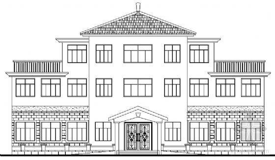 某三层老年活动中心建筑扩初图