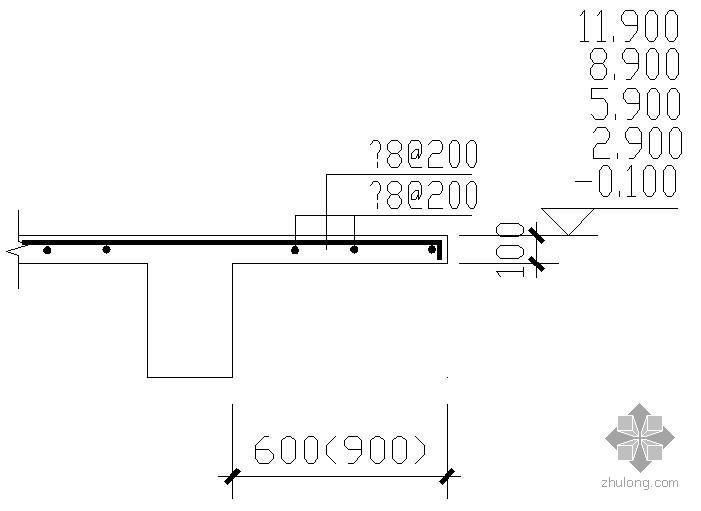 空调机搁板配筋节点资料下载-某空调机搁板配筋节点构造详图
