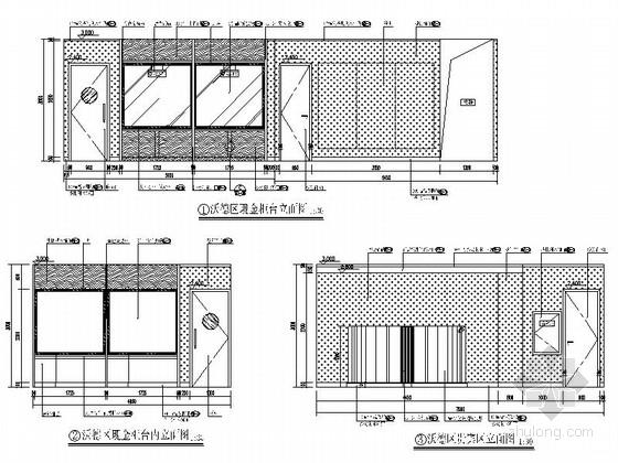 [北京]现代综合金融服务机构国际支行装修施工图立面图