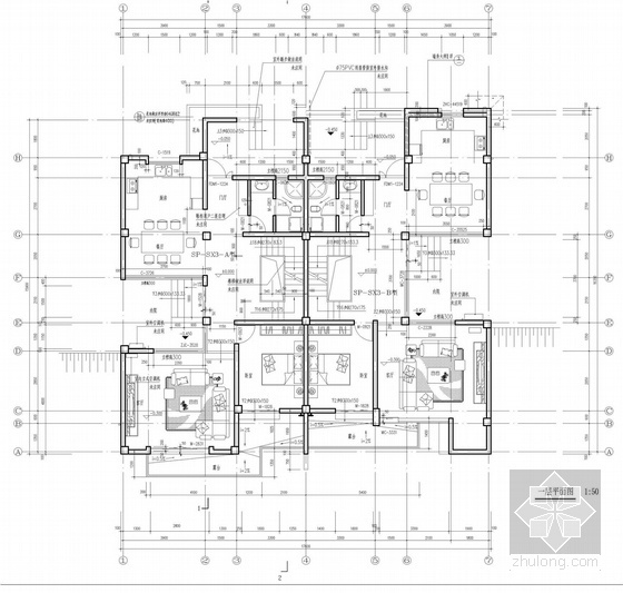 [立面改造]西班牙建筑风格别墅住宅小区立面改造方案文本-西班牙建筑风格别墅住宅平面图