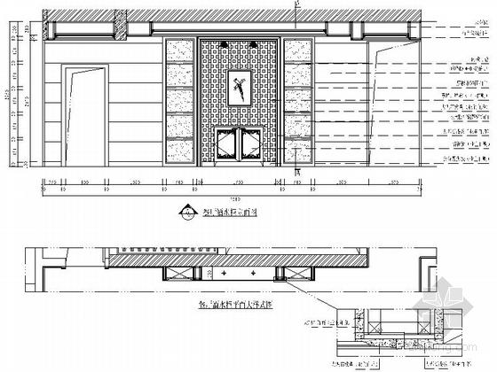 [沈阳]度假生活区古典简欧五居室装修图(含效果)餐厅立面图