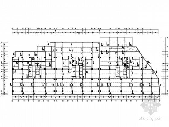 平屋顶22层商住楼框剪结构施工图