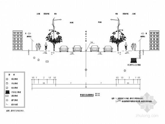 [浙江]市政道路中压电缆管道工程施工图设计20张