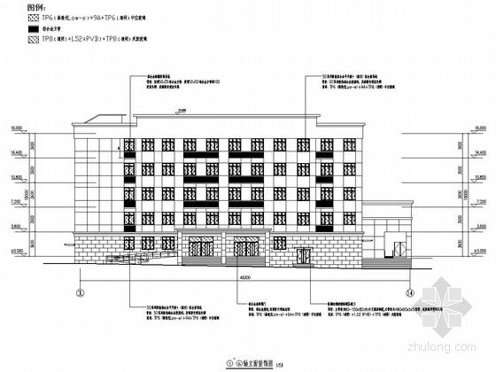 [重庆]五层重点大学学生活动中心门窗装饰施工图