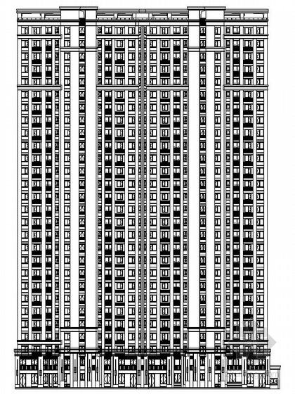 新古典沿街商业su模型资料下载-28层新古典风格商住楼建筑设计施工图(2015年6月图纸推荐参考)