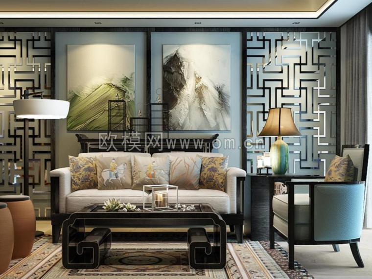 新中式风格装修--欧模网