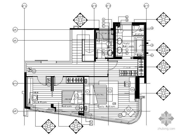 [香港]现代精装复式住宅示范单位施工图(含实景)