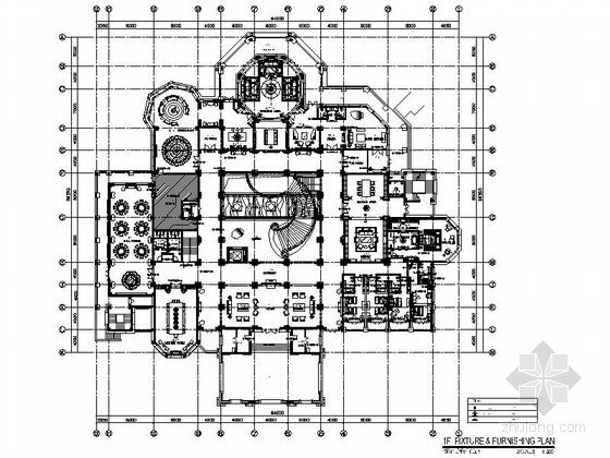 [广州]奢华文化休闲中心B栋室内装修施工图(含效果)