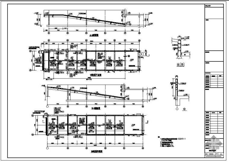某住宅楼车库坡道结构详图
