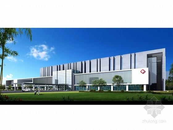 [上海]市级生态花园景观式人民医院建筑设计方案文本(含详细CAD 推荐下载)