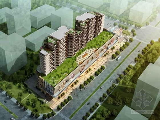 [浙江]剪力墙结构19层高层商业综合体建筑设计方案文本