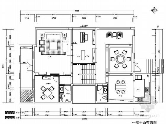 [江阴]花园会馆别墅区豪华欧式三层别墅装修施工图