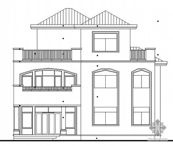 [东莞市]某豪园三期别墅区(A5型别墅)建筑结构水电施工图(含节能