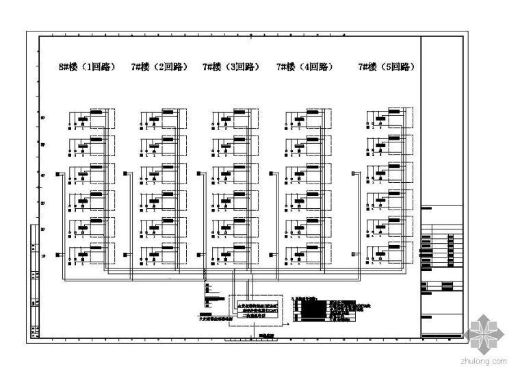 某工业园宿舍生活区消防烟感探头平面图