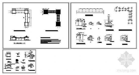 组合亭架建筑详图-4