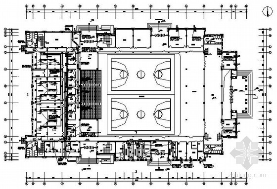 大学综合体育馆通风防排烟设计施工图