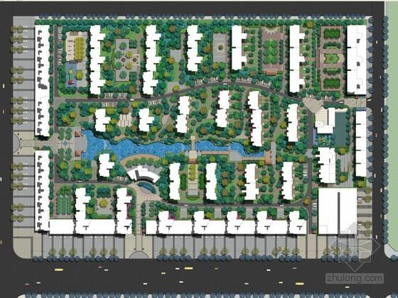[安阳]现代简约风格居住区景观设计方案(一)