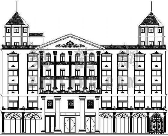 某欧式酒店建筑施工图