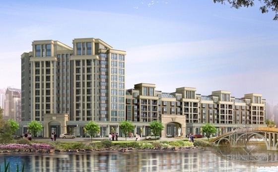英伦风多层及高层住宅区规划设计效果图