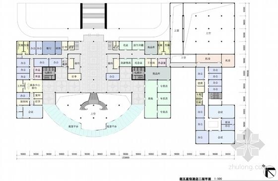 [云南]超五星级花园式酒店建筑设计方案文本(知名设计院)-超五星级花园式酒店建筑设计方案平面图