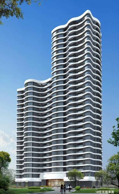 33层现代风格住宅效果图