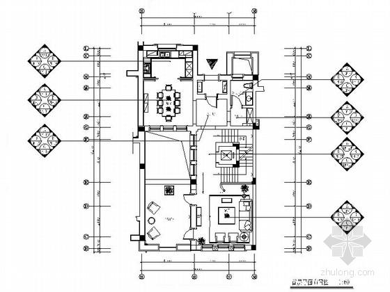 [浙江]三层美式乡村别墅室内装修竣工图(含实景)