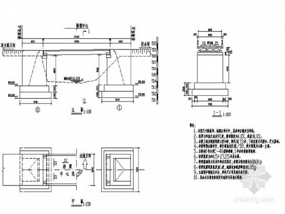 [江西]漂流项目空心板漫水桥施工图17张