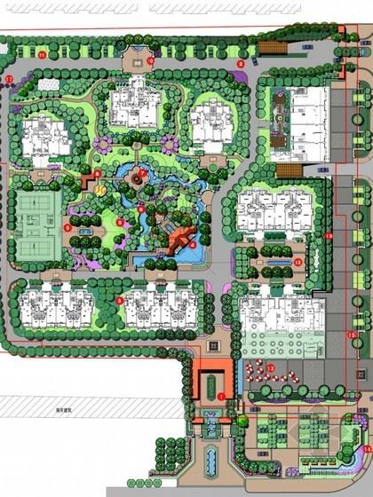 [通辽]新古典主义风格居住区景观概念设计方案