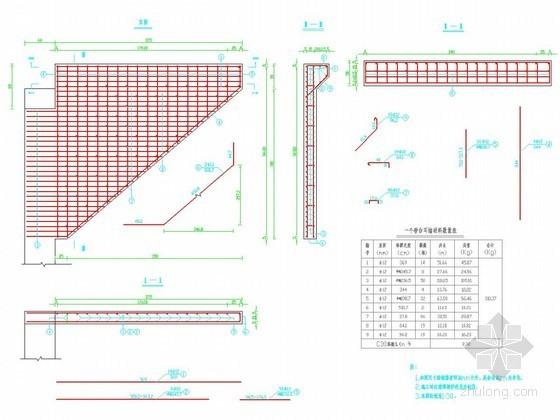 2×10m预应力混凝土简支空心板桥耳墙钢筋布置详图