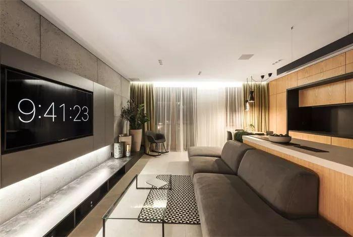 整个空间的设计理念,白净的基底搭配灰黑色,简约清爽中带来时尚与质感