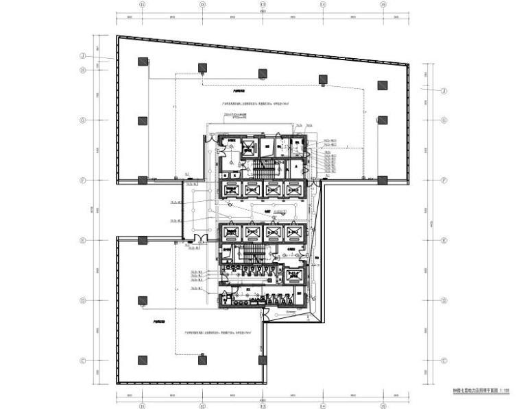 广东高层综合办公楼电气施工图(含人防)