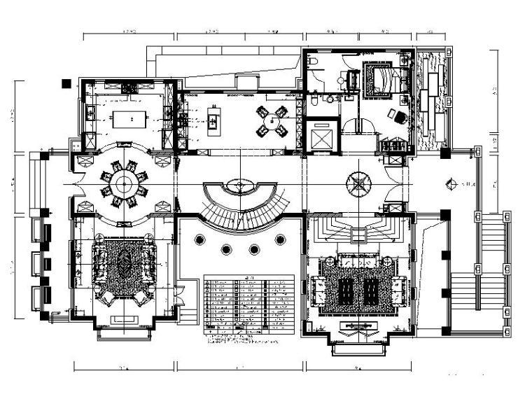[广东]全套别墅样板房设计CAD施工图(含效果图)