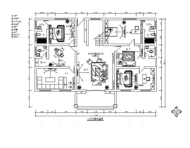 田园风别墅设计施工图(含效果图)