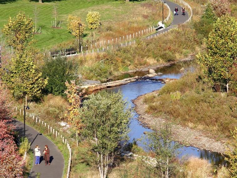 美国斯坦福德市磨坊河公园